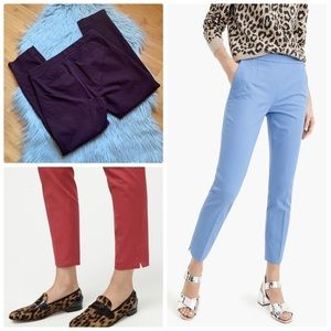J. Crew burgundy Slim Crop Pant Bi Stretch Cotton